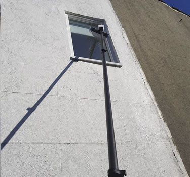 High reach pole for window cleaning